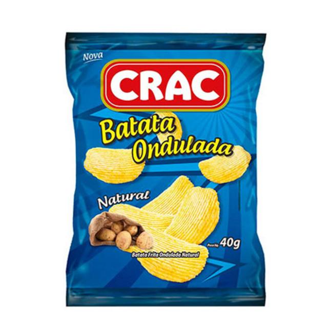 BATATA ONDULADA CRAC 40G NATURAL