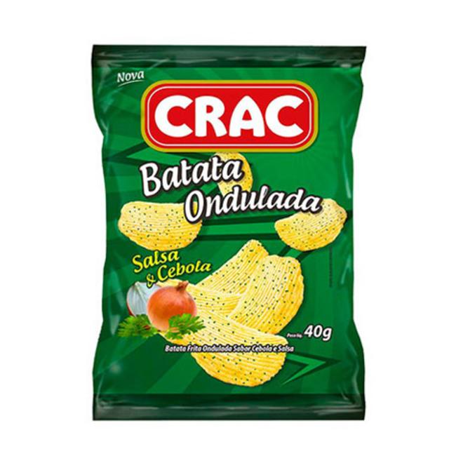 BATATA ONDULADA CRAC 40G SALSA/CEBOLA