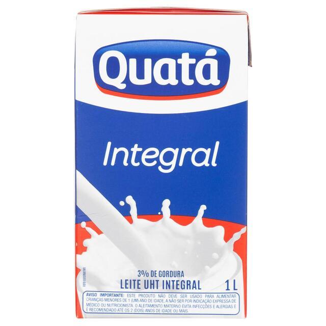 LEITE INTEGRAL QUATA 1L X12