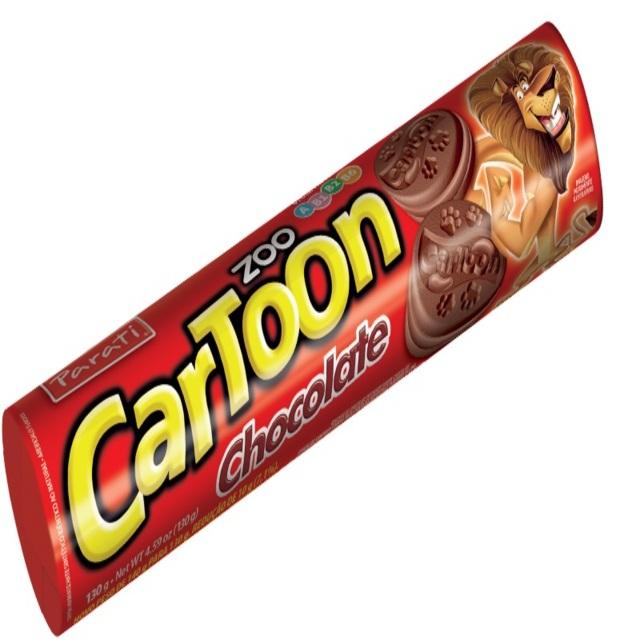 BISCOITO RECHEADO CARTOON 130G CHOCOLATE