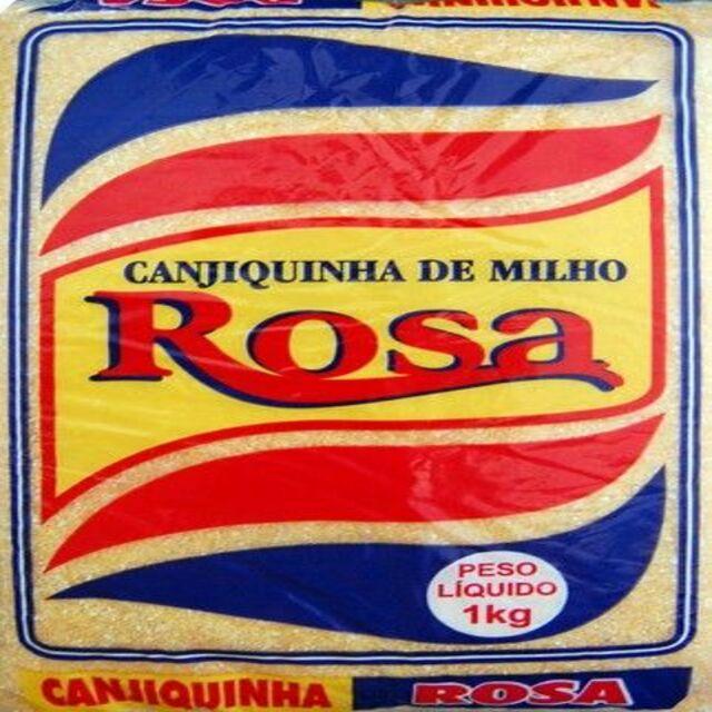 CANJIQUINHA DE MILHO ROSA 1KG X10