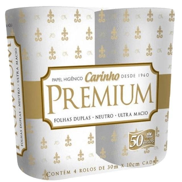 PAPEL HIGIENICO CARINHO PREMIUM  C/4  X16