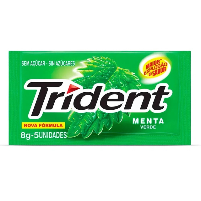 CHICLETE TRIDENT MENTA 8G  X21